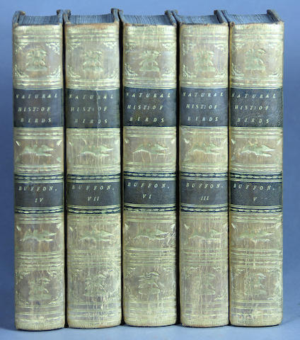 BUFFON, GEORGES LOUIS MARIE LECLERC, COMTE DE. The Natural History of Birds. London: 1793. 9 vols. 8vo. Tree calf.