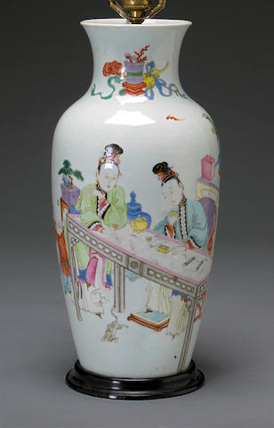 A fine famille rose enameled porcelain vase Qing dynasty, 18th century