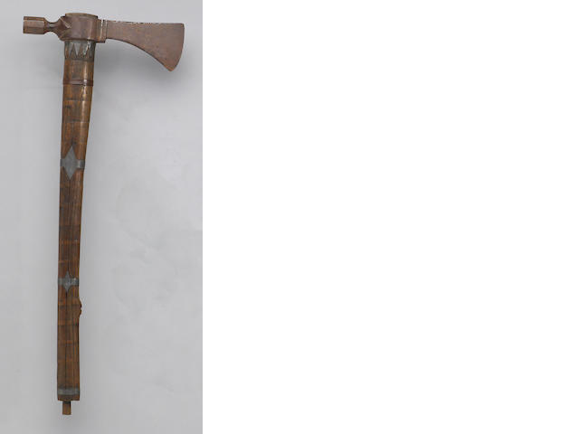 A Native American pipe tomahawk