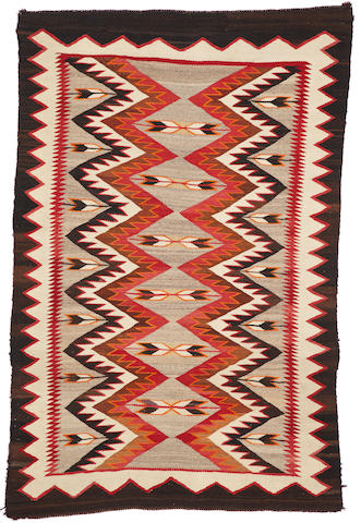 A Navajo Red Mesa pictorial rug