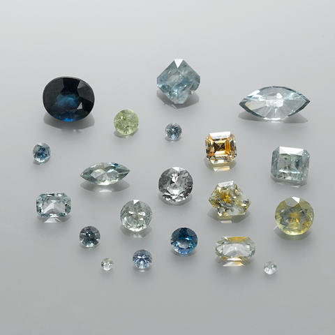 Group of Montana Sapphires