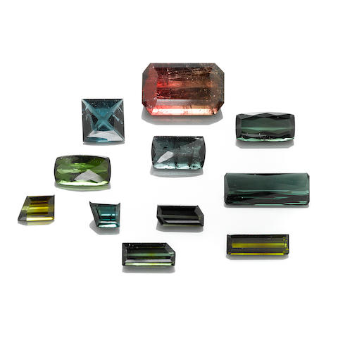 Group of Faceted Tourmalines