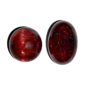 A Rubellite Tourmaline and a Cat's Eye Rubellite Tourmaline