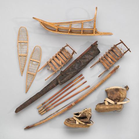 Six Eskimo child's items
