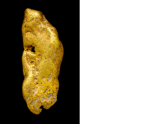 "Important California Gold Nugget-""The Black Canyon Beauty"""