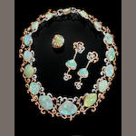 "Important Suite of Fossil Clamshell Crystal Opal and Pink Diamond Jewelry--""Memoirs of the Ocean"""