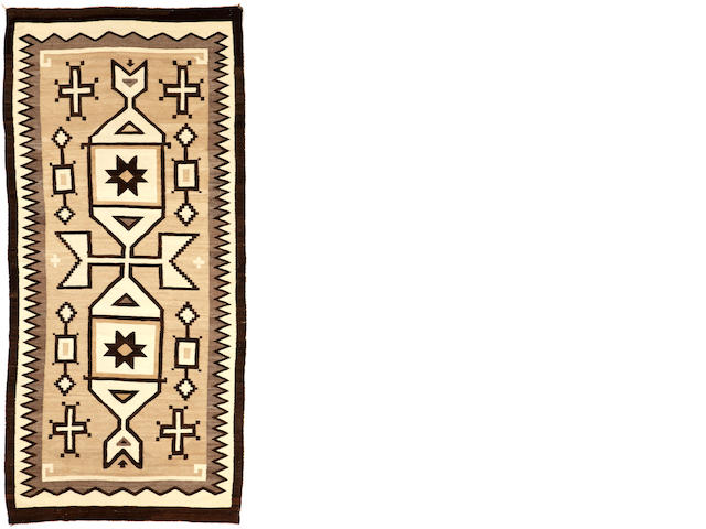 A Navajo Two Grey Hills rug