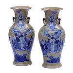 A pair of Chinese decorated vases
