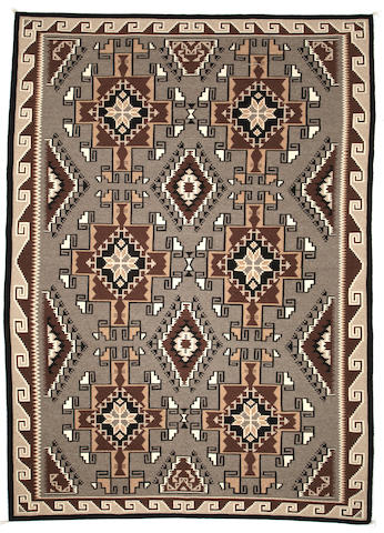 A large Navajo Two Grey Hills rug