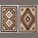 Two Navajo tapestry weave rugs