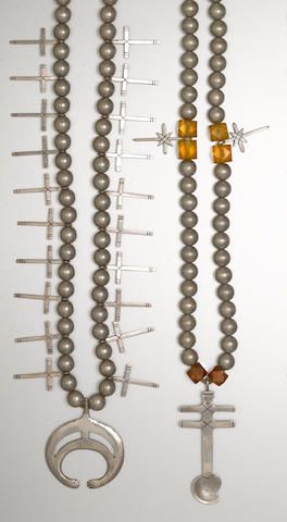 Two San Juan cross necklaces