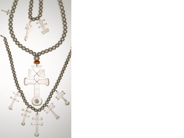 Three San Juan cross necklaces