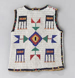A Sioux beaded boy's vest