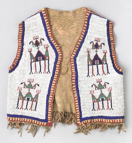 A Sioux beaded boy's vest