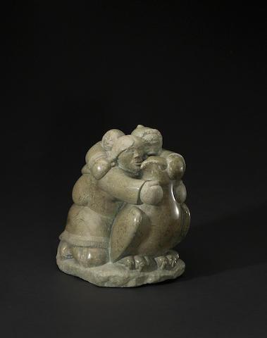 A Simeonie Keenainak stone sculpture