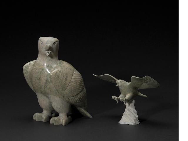 Two Pitsiula Qimirpik stone sculptures