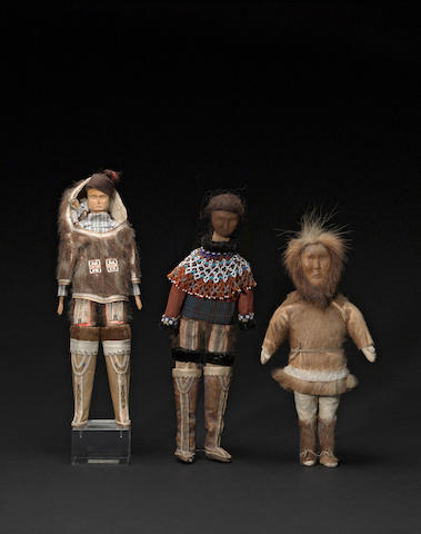 Three Eskimo dolls