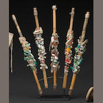 A set of Navajo prayer sticks