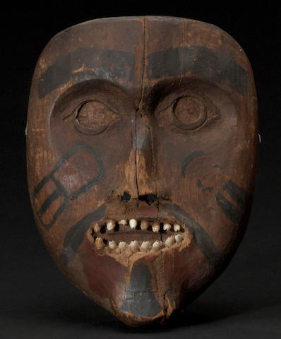 A Tlingit or Haida mask