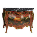 A Louis XV Vernis Martin style commode