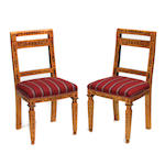 A set of six Charles X style dining chairs