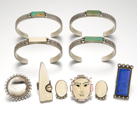A group of San Juan jewelry items
