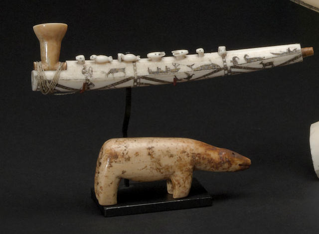 Two Eskimo ivory items