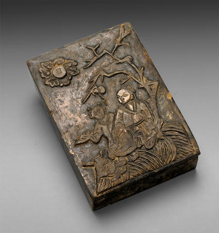 A covered inkstone