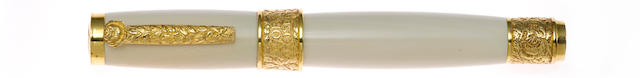 STIPULA: Ivory Rose Limited Edition 12 Fountain Pen