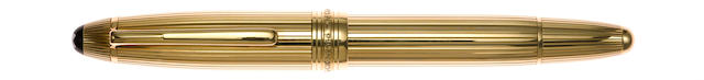 MONTBLANC: Meisterstuck Solitaire 146 Solid 18K Gold Fountain Pen