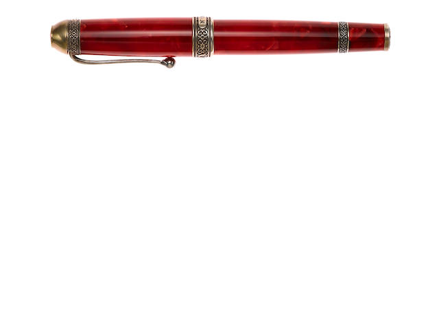 AURORA: 85th Anniversary with Sterling Silver Accents Limited Edition 1919 Fountain Pen
