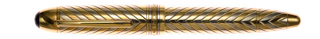 MONTBLANC: Meisterstuck Solitaire 149 Solid 18K Gold Fountain Pen