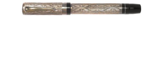 MONTEGRAPPA: Cosmopolitan Baroque Sterling Silver Fountain Pen