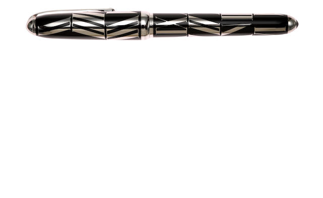 CARTIER: Chiffres Romaines Black Lacquer & Platinum Limited Edition 1847 Fountain Pen