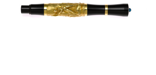 STIPULA: Academia Pesca 18K Gold Fountain Pen