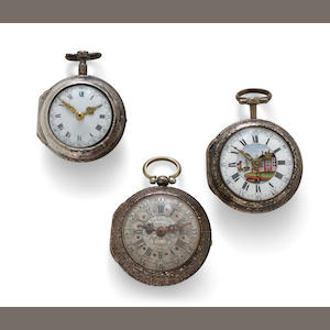 Three verge watchesmid 18th Century