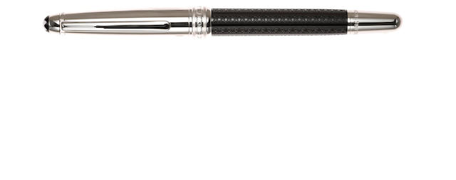 MONTBLANC: Solitaire Classique Doué Black and Silver Rollerball Pen