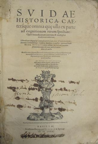 BASEL IMPRINTS—16TH CENTURY. 1.	CALEPINO. Lexicon. Valentin Curio, September, 1530.<BR />