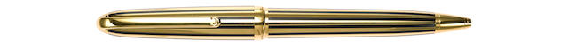 CARTIER: Dandy Gold-Plated Black Lacquer Fountain Pen & Ballpoint Limited Edition 1847 Pair
