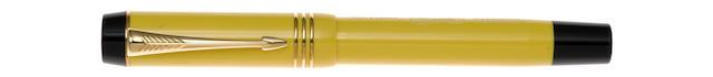 PARKER: Duofold Mandarin Yellow Limited Edition Fountain Pen