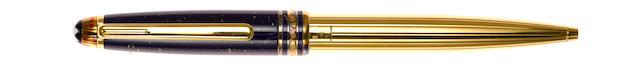 MONTBLANC: Meisterstück Ramses II 164 Lapis & Vermeil Ballpoint Pen