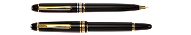 MONTBLANC: Meisterstück 116 Mozart Fountain Pen & 117 Mechanical Pencil Lot