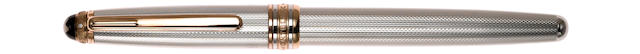 MONTBLANC: Meisterstück 163 Sterling Silver Rollerball Pen 1924 Anniversary Limited Edition