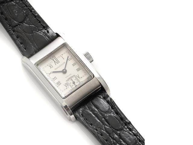 A staybrite strap wristwatch, Jaeger LeCoultre