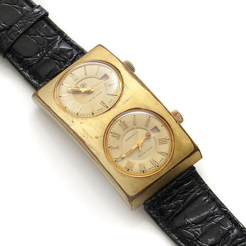A dual time and date automatic strap wristwatch, Ardath