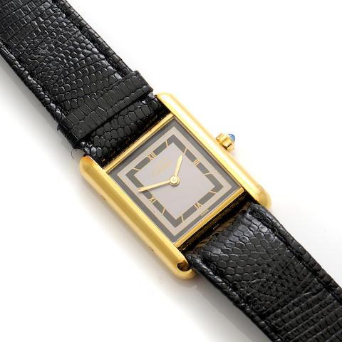A vermeil watch, Cartier