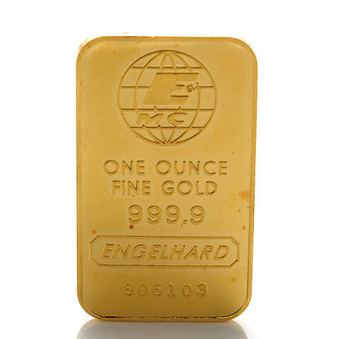 A 999.9 one oz. engelhard