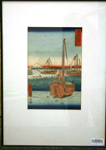 Hiroshige (1797-1858): Two woodblock prints
