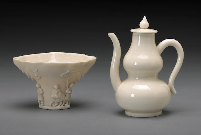 Two Dehua porcelain vessels  17/18th Century