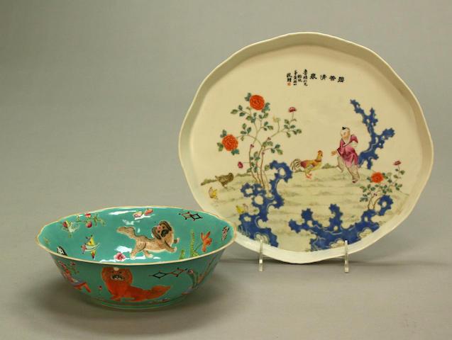 Two famille rose enameled porcelains